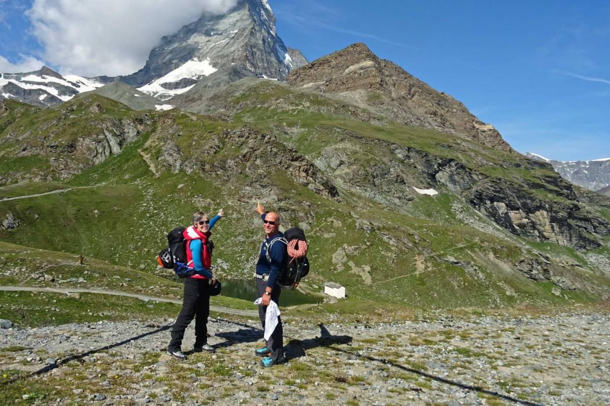 Δύο μέλη του Ε.Ο.Σ. Καβάλας στην κορυφή του Matterhorn