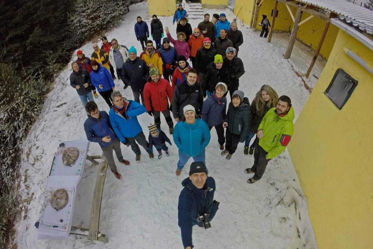 Κοπή πίτας του Ε.Ο.Σ. Καβάλας στο χιονισμένο Παγγαίο